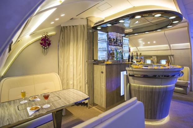 A Bar on an A380