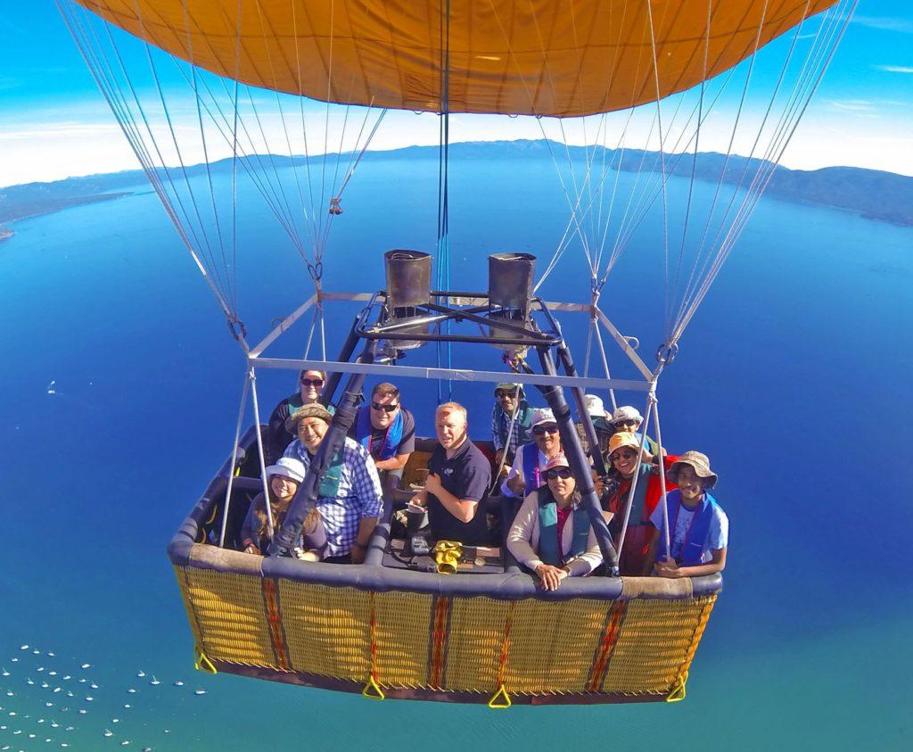 Adventure of hot air balloon ride