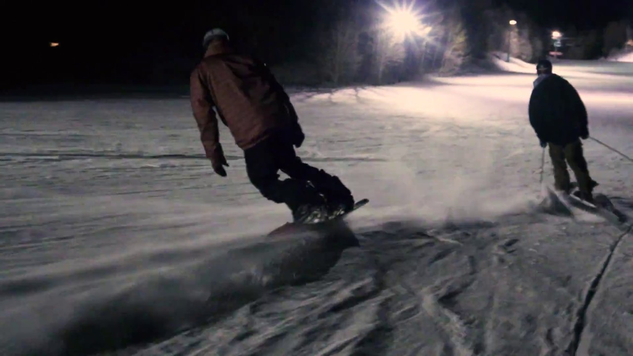 Night Snowboarding
