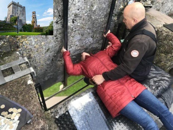 Kissing Blarney Stone